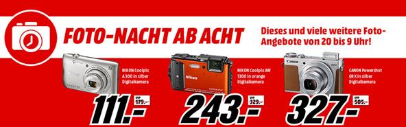 "Bild zu Media Markt ""Foto Nacht ab Acht"" mit Nikon/Canon Kameras + Wacom Grafiktablets"