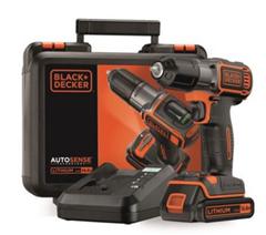 Bild zu BLACK&DECKER Akku-Bohrschrauber Autosense ASD14K für 69,90€