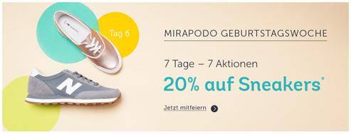 Bild zu Mirapodo: 20% Rabatt auf (fast) alle Sneaker