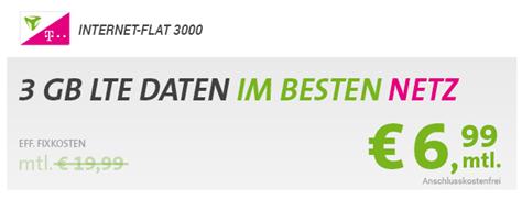 Bild zu [Telekom-Netz] 3GB LTE Datenflat für 6,99€ oder 6GB für 9,99€