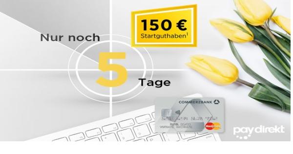 Bild zu Commerzbank: 150€ Startguthaben für das kostenlose und beitragsfreie Girokonto + kostenlose Kreditkarte auf Wunsch