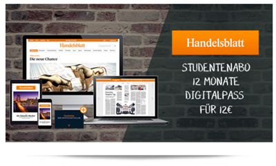 Bild zu [Super] Für Studenten: 12 Monate Handelsblatt Digitalpass für 12€ (= 1€ anstatt 17,99€/Monat)