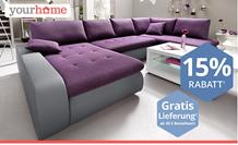 Bild zu yourhome: 15% Rabatt auf das Einrichten-Sortiment + kostenlose Lieferung (ab 50€ MBW)