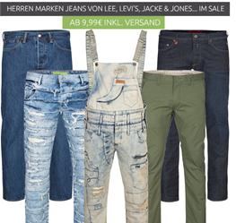 Bild zu verschiedene Herren Marken Jeans von Wrangler, Levis, Jack & Jones usw. ab 9,99€