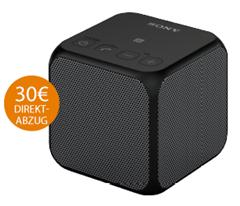 Bild zu SONY SRS-X11 Bluetooth Lautsprecher, Ausgangsleistung 10 Watt, Near Field Communication, Schwarz für 29,99€