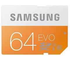 Bild zu Samsung Speicherkarte SDXC 64GB GB EVO Class 10 für 15€