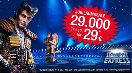 Bild zu [nur noch heute] 29.000 Starlight Express Tickets für je 29€