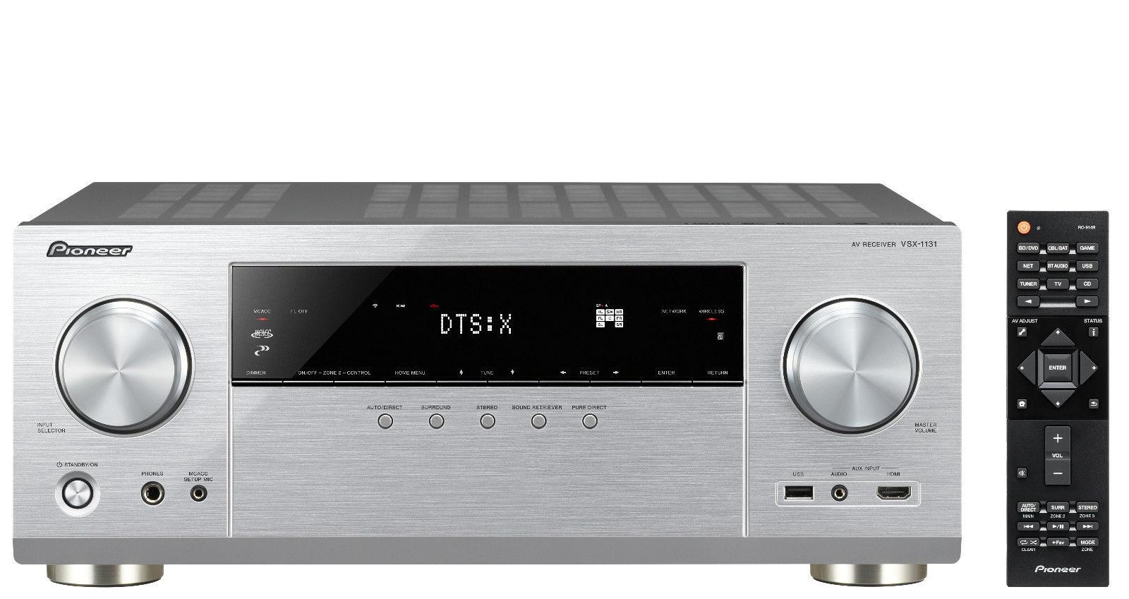 Bild zu 7.2 4K AV Receiver Pioneer VSX-1131-S mit Airplay, Bluetooth und WiFi für 377€