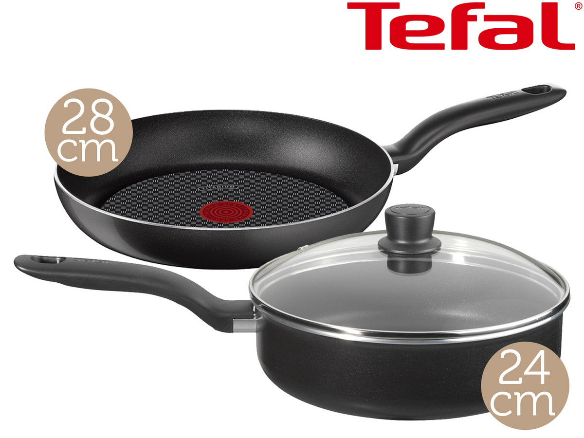 tefal hard titanium schmorpfanne mit deckel bratpfanne f r 43 90. Black Bedroom Furniture Sets. Home Design Ideas