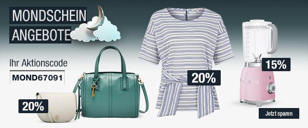 Bild zu Galeria Kaufhof Mondschein Angebote, z.B. 20% Rabatt auf ausgewählte Damen- und Herrenbekleidung