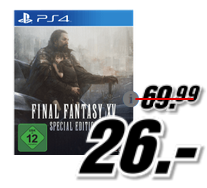 Bild zu Final Fantasy XV (Limited Steelbook Edition) [PlayStation 4 oder xBox One] für 26€