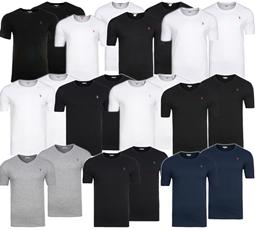 Bild zu 2er Pack U.S. POLO ASSN. Rundhals/V-Neck Herren T-Shirts für je 9,99€
