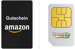 Bild zu 3 x Klarmobil Karte im Vodafone-Netz mit je 2€ Guthaben + 30€ Amazon Gutschein für 5,85€ (oder auch andere Prämien)