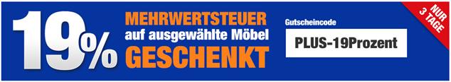 Bild zu Plus.de: 19% Mehrwertsteuer auf ausgewählte Möbel geschenkt