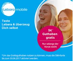 Bild zu Lebara: kostenlose Prepaid-SIM-Karte im Telekom-Netz + 3 € Startguthaben