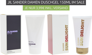 Bild zu zwei verschiedene Jil Sander Damen Duschgels (je 150ml) für je 3,99€