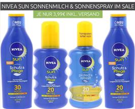 Bild zu [geht noch] verschiedene NIVEA sun Schutz & Pflegeprodukte für je 3,99€