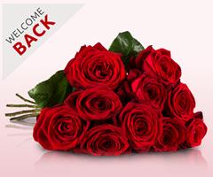 Bild zu 10 Rote Rosen für 9,95€ inklusive Versand