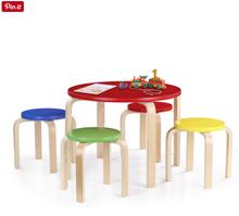 Bild zu iKayaa Kinder-Rundtisch mit 4 Stühlen für 38,64€