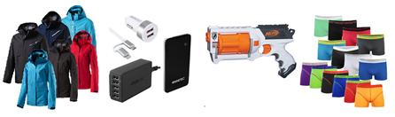 Bild zu Die restlichen eBay WOW Angebote in der Übersicht, z.B. NINETEC Lade-Set 5port USB-Ladegerät & PowerBank & KFZ Ladegerät für 19,99€