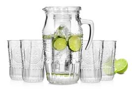 Bild zu Bormioli Glaskaraffe mit Eiseinsatz und 4 Gläsern für 14,99€