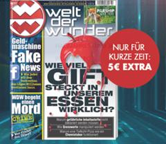 """Bild zu 12 Ausgaben der Zeitschrift """"Welt der Wunder"""" + 40€ Prämie für 45,60€"""