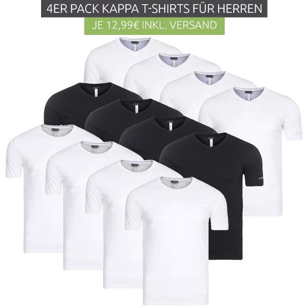 Bild zu 4er Pack Kappa Herren T-Shirt für 12,99€ inklusive Versand
