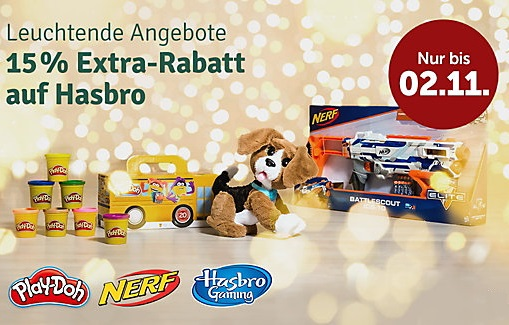 Bild zu MyToys: 15% Rabatt auf Hasbro (29€ MBW)