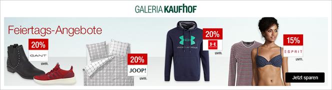 Bild zu Galeria Kaufhof Feiertags-Angebote, z.B. 20% Rabatt auf UNDER ARMOUR