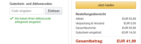 Bestellung aufgeben Amazon.de Bezahlvorgang