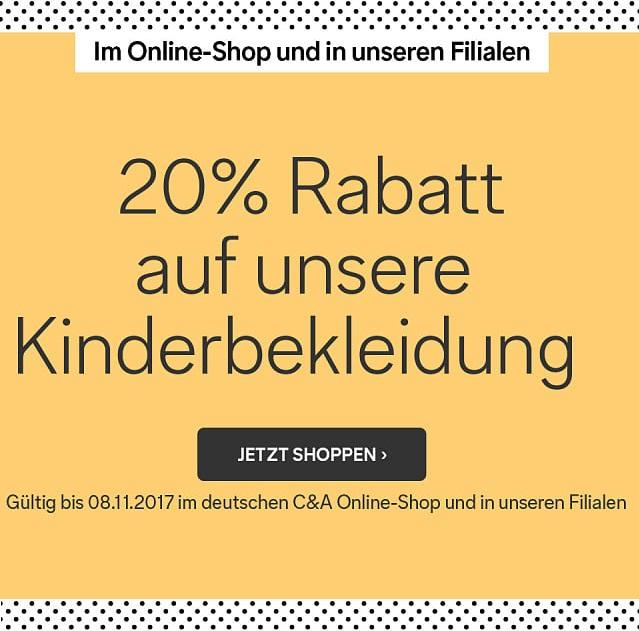 Bild zu C&A: 20% Rabatt auf die gesamte Kindermode (inklusive Baby-Bekleidung)