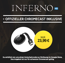 Bild zu Google Chromecast 2 + Inferno (Leihversion) in HD für 23,99€