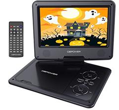 """Bild zu 9.5"""" tragbarer DVD-Player mit wiederaufladbarer Batterie, Schwenkbaren Bildschirm, Unterstützt SD-Karte und USB für 21,99€"""
