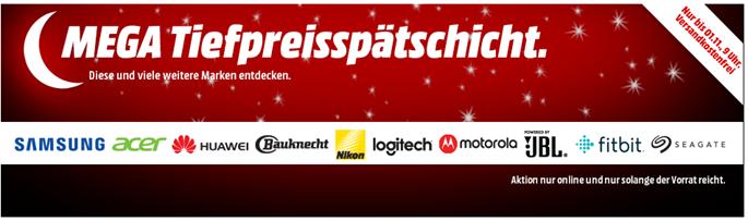 """Bild zu MediaMarkt Mega """"Tiefpreisspätschicht"""" mit vielen guten Preisen und vielen Marken (über 200 Artikel zum Internetbestpreis)"""
