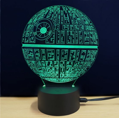 msparkling creative 3d led lamp star wars the death star shape table lamp colorful - Star Wars Todesstern Lampe