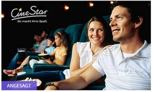 Bild zu 5 CineStar Kinogutscheine für 31,25€ (6,25€ pro Ticket)