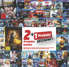 Bild zu MediaMarkt: 3 Games, Musik oder Filme aussuchen und das günstigste Produkt im Warenkorb kostenlos erhalten
