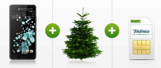 Bild zu HTC U Ultra  (Vergleich: 323,90€) für einmalig 49€ + gratis Weihnachtsbaum im o2 Smart Surf mit 1GB LTE Datenflat, 50 Freiminuten und 50 Frei SMS für 9,99€/Monat