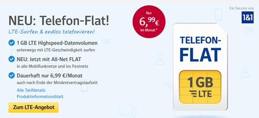 Bild zu [nun mit Startguthaben] o2/Telefonica Netz (Allnet + 1GB LTE Datenflat) für 6,99€/Monat (mit 3GB für 9,99€) oder 100 Minuten + 1GB für 4,99€/Monat