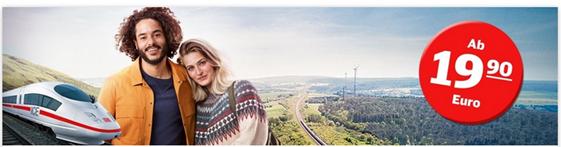 Bild zu DB: eine Millionen ICE Tickets zum Sparpreis für Strecken quer durch Deutschland ab 19,90€