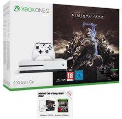 MICROSOFT-Xbox-One-S-500GB-Konsole---Mittelerde -Schatten-des-Krieges