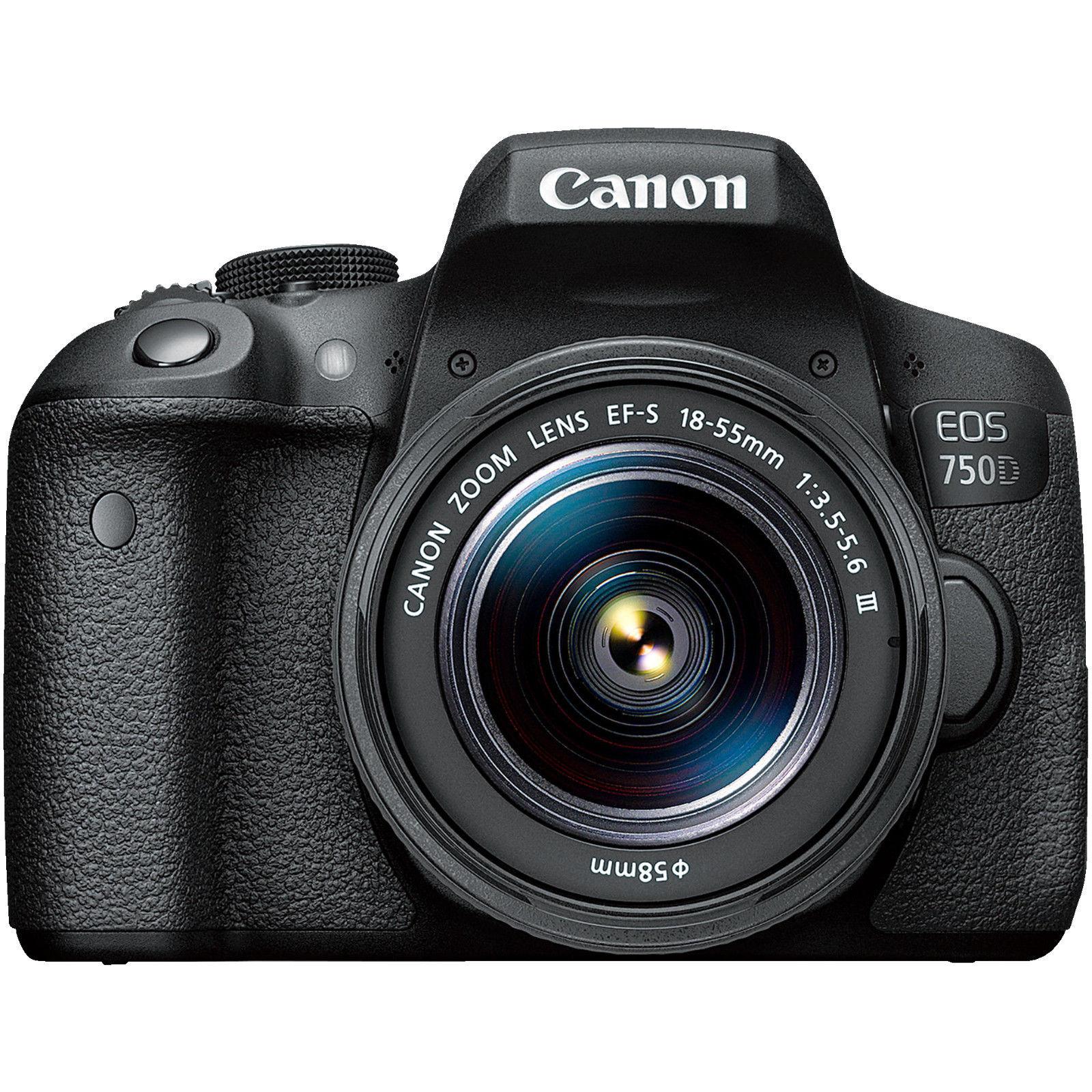 Bild zu Digitale Spiegelreflexkamera Canon EOS 750D als Kit mit dem Objektiv 18-55 III, Kameratasche und 16 GB Speicherkarte für 444€