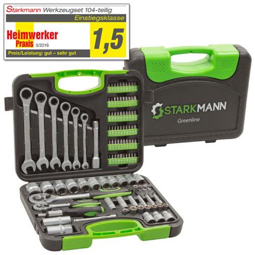 Bild zu 104-teiliger Starkmann Greenline Werkzeugkoffer für 29,99€ (Vergleich: 48,80€)