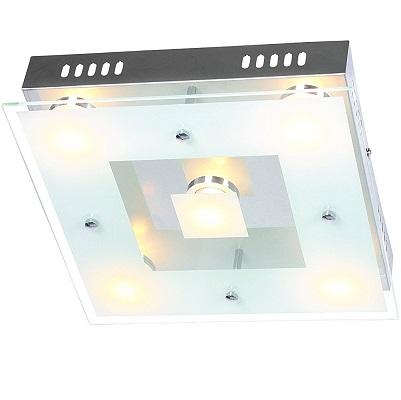 Bild zu 5-flammige LED-Deckenleuchte Wofi Sphinx für 19,90€