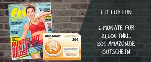 """Bild zu [nur 300x] 6 Ausgaben der Zeitschrift """"Fit For Fun"""" für 21,60€ inkl. 20€ Amazon.de Gutschein"""