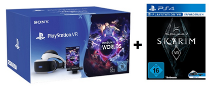 Bild zu Sony PlayStation VR + Camera + VR Worlds + Skyrim VR ab 299€