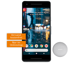 google pixel 2 inkl google home mini einmalig 1 mit. Black Bedroom Furniture Sets. Home Design Ideas