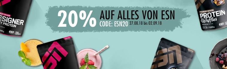 Bild zu Fitmart: 20% Rabatt auf alle ESN Produkte