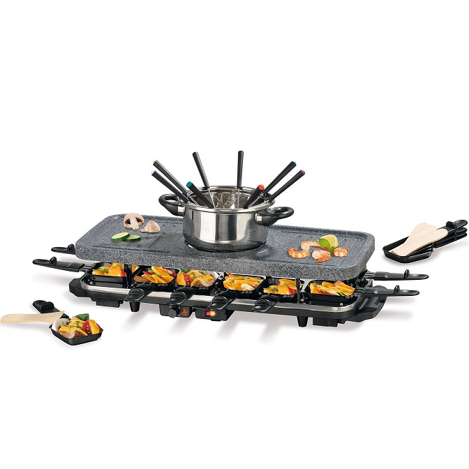 12 personen gourmetmaxx raclette und fondue set f r 49 99. Black Bedroom Furniture Sets. Home Design Ideas