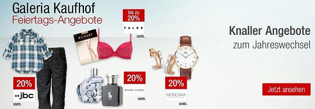 Bild zu Galeria Kaufhof Feiertags-Angebote, z.B. 20% Rabatt auf ausgewählte Damenunterwäsche